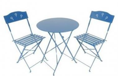 Bistro Set 3tlg. paris bleu