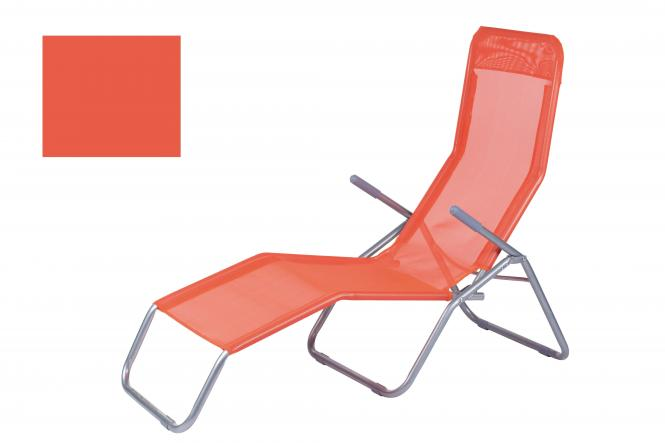 DeDeO | Liegestuhl Text/alu orange | online kaufen
